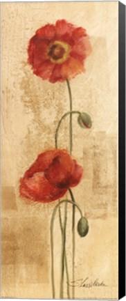 Framed Golden Poppies I Print
