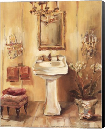 Framed French Bath III Print