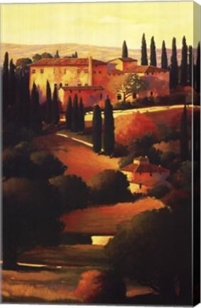 Framed Green Hills of Tuscany I Print