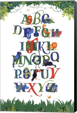 Framed Safari Alphabet Print