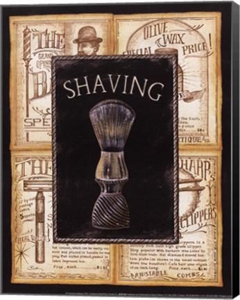 Framed Grooming Shaving Print
