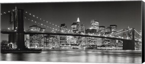 Framed Brooklyn Bridge, 2007 Print