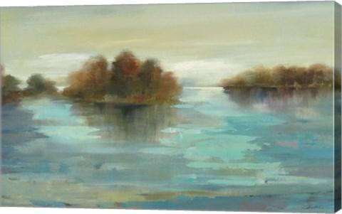 Framed Serenity on the River Print
