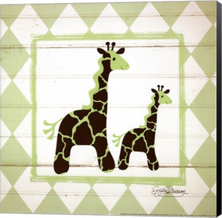Framed Giraffes Print