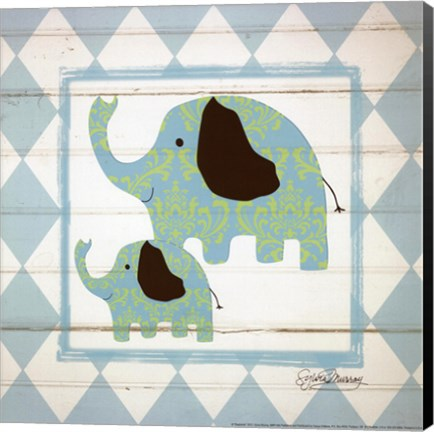 Framed Elephants Print