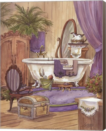 Framed Victorian Bathroom I Print
