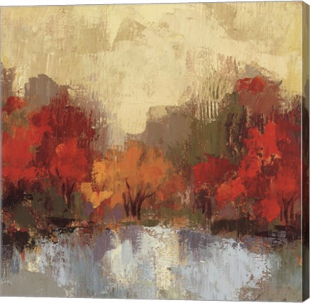 Framed Fall Riverside I Print