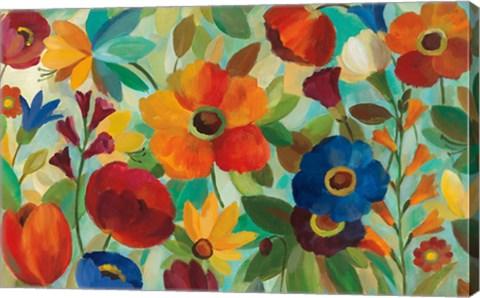Framed Summer Floral V Print
