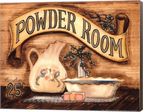 Framed Powder Room Print