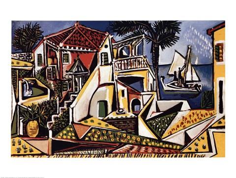 Framed Paysage Mediterraneen Print