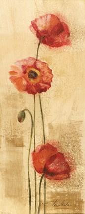 Framed Golden Poppies II Print