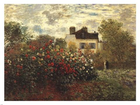 Framed Artist's Garden in Argenteuil Print