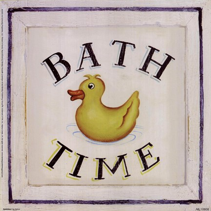 Framed Bathtime I Print