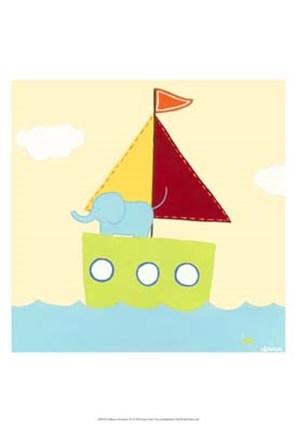 Framed Sailboat Adventure IV Print