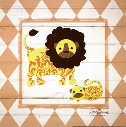 Framed Lions Print