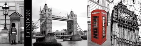 Framed Glimpse of London Print