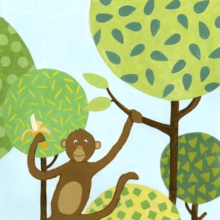 Framed Jungle Fun I Print