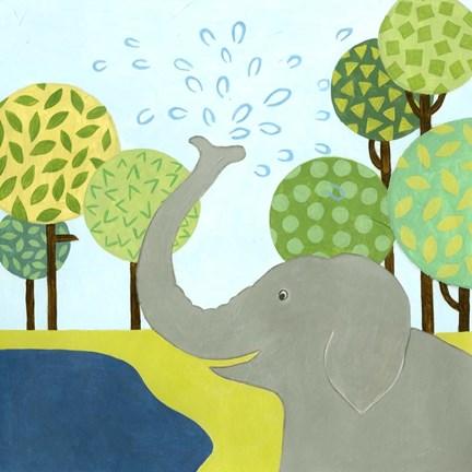 Framed Jungle Fun II Print