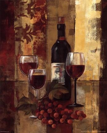 Framed Graffiti and wine II Print