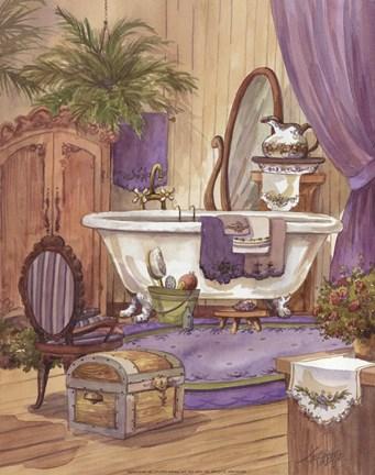 Framed Victorian Bathroom I Print