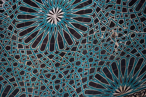 Framed Ceiling Tile, Mevlana Museum, Konya, Turkey Print