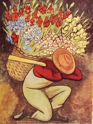 Framed Vendedora de Flores Print