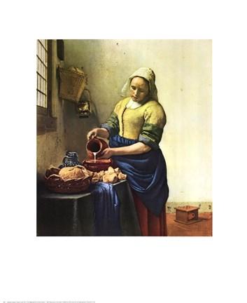 Framed Milkmaid, The Print