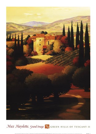 Framed Green Hills of Tuscany II Print