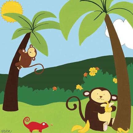 Framed Jungle Jamboree II Print