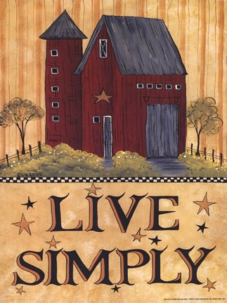 Live simply barn wholesale art print at lieberman 39 s for Live simply wall art