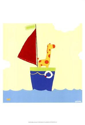 Framed Sailboat Adventure I Print