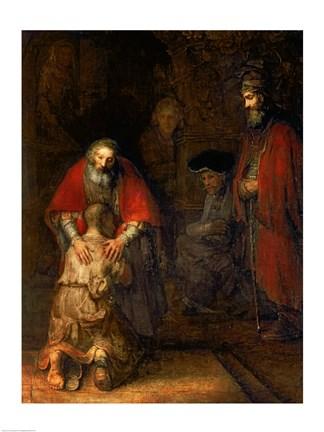 Framed Return of the Prodigal Son, c.1668 Print