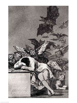 Framed Sleep of Reason Produces Monsters Print