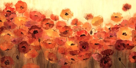 Framed Summer Poppies Print