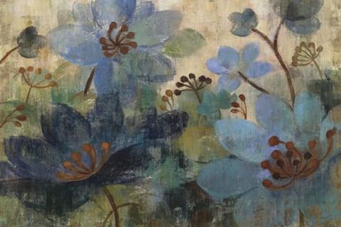 Framed Peacock Garden Print