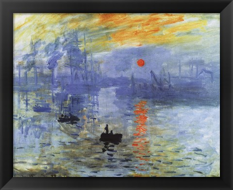 Framed Impression, Sunrise, c.1872 Print