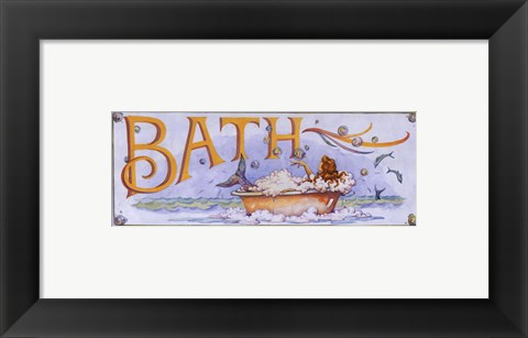 Framed Bath (Mermaid) Print