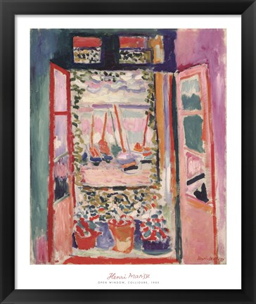 Framed Open Window, Collioure, 1905 Print