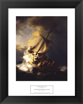 Framed Storm on the Sea of Galilee Print