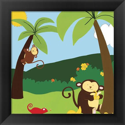 Framed Jungle Jamboree II Print