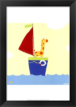 Framed Sailboat Adventure I Print