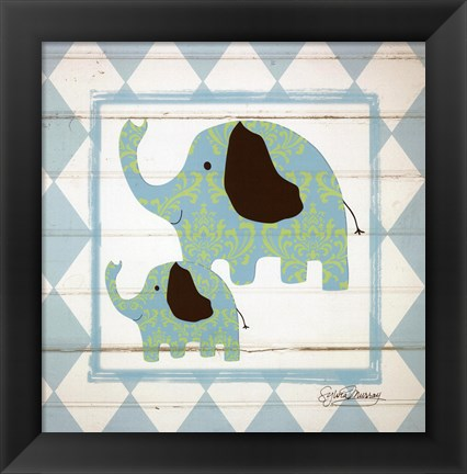 Framed Elephants Print