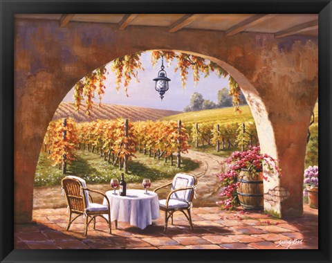 Framed Vineyard for Two Print