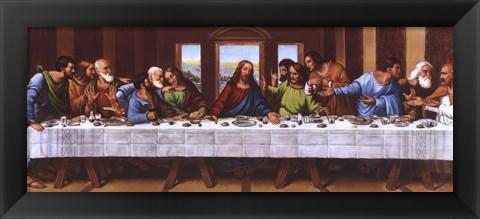 Framed Last Supper Print
