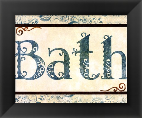 Framed Bath Print