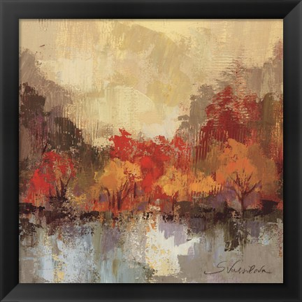 Framed Fall Riverside II Print