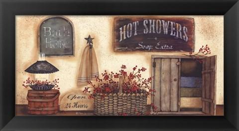 Framed Bath House Print