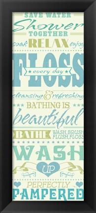Framed Wash Up IV Print